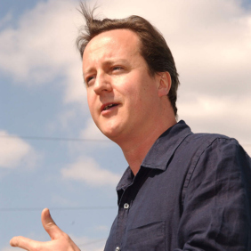 David Cameron enthuses the crowd